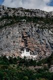 Monastère stupéfiant d'Ostrog, Monténégro photographie stock