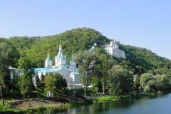 Monastère sur la montagne Photo libre de droits