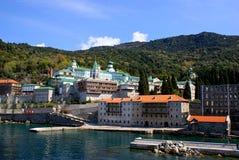 Monastère sur le support Athos Image stock