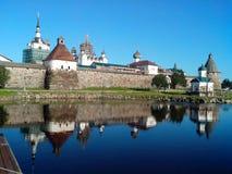 Monastère sur les îles de Solovki Images libres de droits