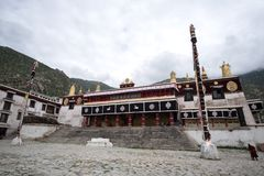 Monastère tibétain à Lhasa, Thibet Images libres de droits