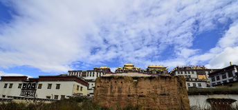 Monastère tibétain de Gedan Songzanlin, Shangri-La Images libres de droits