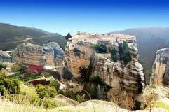 Monastères dans les montagnes La Grèce Photo stock