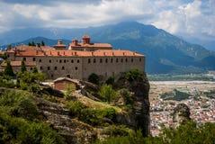 Monastères de Meteora à Trikala, Grèce Photographie stock libre de droits