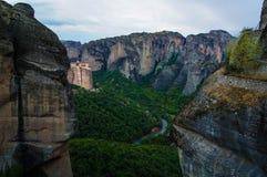Monastères 5 de Meteora Image libre de droits