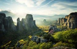 Monastères de Meteora Images libres de droits