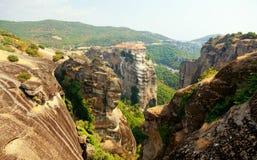 Monastères de Meteora Clifftop Photographie stock