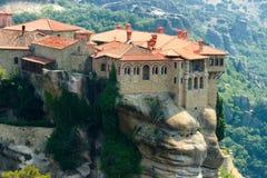 Monastères de Meteora Clifftop Images stock