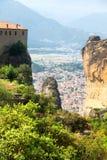 Monastères de Meteora Clifftop Photos libres de droits