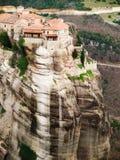 Monastères de Meteora Clifftop Images libres de droits
