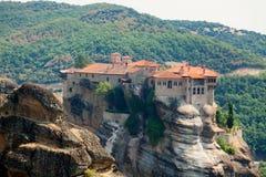 Monastères de Meteora Clifftop Image stock