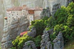 Monastères de Meteora en Grèce Photographie stock libre de droits