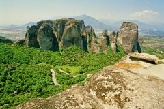 Monastères de Meteora en Grèce Photographie stock