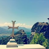 Monastères de Meteora en Grèce Images libres de droits