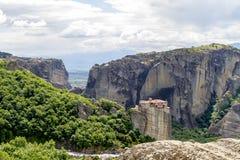 Monastères de Meteora, formations de roche incroyables de grès Photos stock
