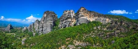 Monastères de Meteora, point de repère de la Grèce Image libre de droits