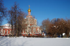 Monastères grands de la Russie Couvent de Novodevichy Images libres de droits