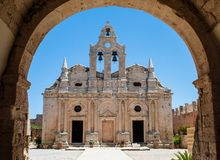 Monastério Akrkadi na Creta Grécia de Rethimno Fotografia de Stock Royalty Free