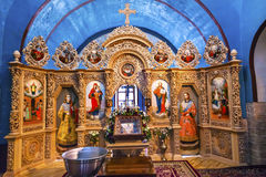 Monastério antigo Kiev Ucrânia de Vydubytsky da igreja de Mikhaylovsky da basílica Fotografia de Stock