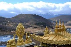 Monastério budista tibetano de Songzanlin, La de Shangri, Xianggelila, província de Yunnan, China fotografia de stock