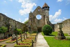 Monastério Cistercian da vila de Carta, perto de Sibiu, a Transilvânia, Romênia fotografia de stock