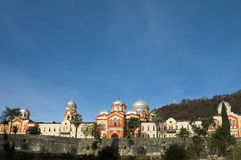 Monastério cristão Athos novo fotografia de stock