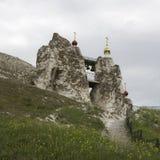 Monastério da caverna em Kostomarovo, região de Voronezh, Rússia Fotografia de Stock