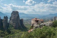 Monastério da mulher em Meteora foto de stock royalty free