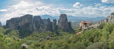 Monastério da mulher em Meteora fotografia de stock royalty free