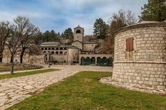 Monastério da natividade da Virgem Maria abençoada em Cetinje imagens de stock