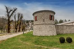 Monastério da natividade da Virgem Maria abençoada em Cetinje fotografia de stock