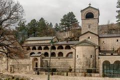 Monastério da natividade da Virgem Maria abençoada em Cetinje imagem de stock royalty free