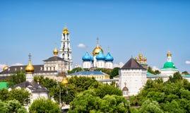 Monastério da trindade em Sergiyev Posad (anel dourado de Rússia) fotografia de stock