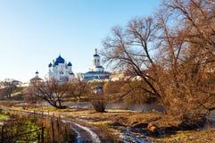 Monastério de Оrthodox no por do sol Fotos de Stock Royalty Free