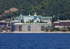 Monastério de Agiou Panteleimonos em Athos Mount, Grécia Fotografia de Stock