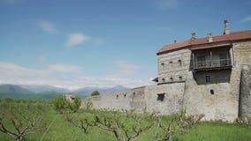 Monastério de Alaverdi na província de Kakheti em Geórgia video estoque