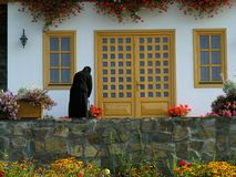 Monastério de Barsana da vila de Barsana em Maramures Romênia imagens de stock