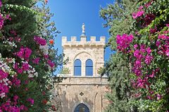 Monastério de Beit Jimal ou de Beit Jamal Catholic perto de Beit Shemesh Foto de Stock