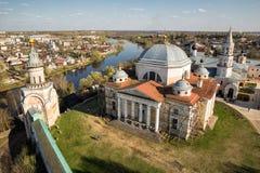 Monastério de Borisoglebsky, Torzhok, Rússia Fotografia de Stock