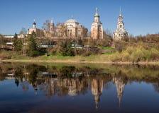 Monastério de Borisoglebsky, Torzhok, Rússia Imagens de Stock