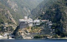 Monastério de Dionysiou Imagens de Stock Royalty Free