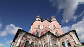 Monastério de Donskoy Igrejas medievais do russo no território Moscovo, Rússia video estoque