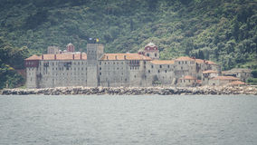 Monastério de Esphigmenou - Mounth Athos Greece fotos de stock