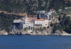 Monastério de Gregoriou (Monte Athos, Grécia) Imagens de Stock Royalty Free