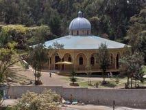 Monastério de Gregory Ethiopian Orthodox Church de Saint em Addis Ababa, área do tronco fotografia de stock