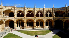 Monastério de Jeronimos, Belém, Lisboa Imagens de Stock