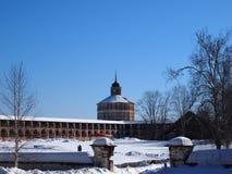 Monastério de Kirillo-Belozersky fotos de stock