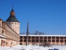 Monastério de Kirillo-Belozersky foto de stock