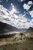 Monastério de Kye ou monastério do ki Foto de Stock Royalty Free