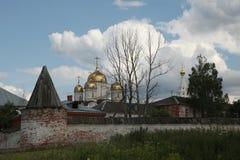 Monastério de Luzhetsky em Mozhaysk perto de Moscou, Rússia fotografia de stock